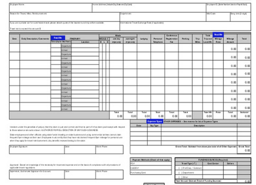 is it efficient to manage employee expenses using excel