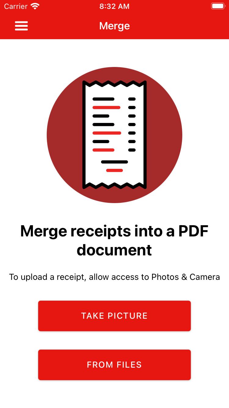 Merge Receipts